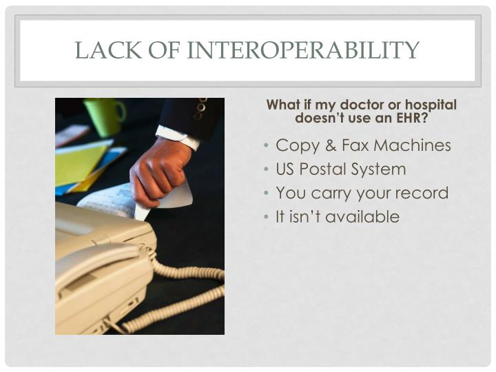 Lack of Interoperability