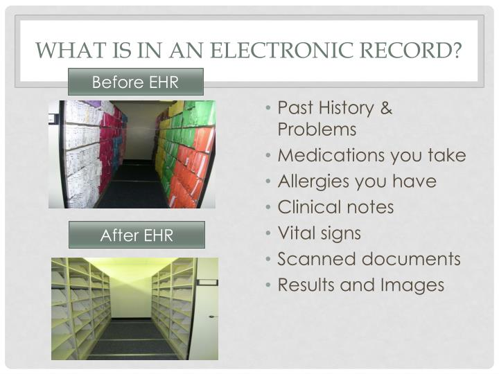 What is in an electronic record?