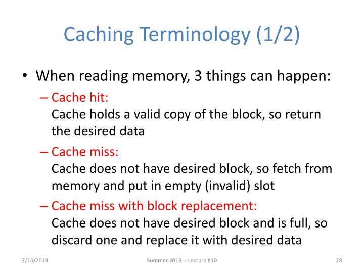 Caching Terminology (1/2)