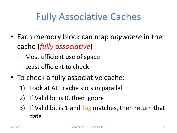 Fully Associative Caches