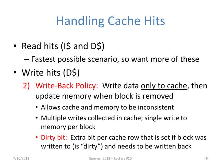 Handling Cache Hits