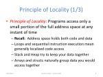 principle of locality 1 3