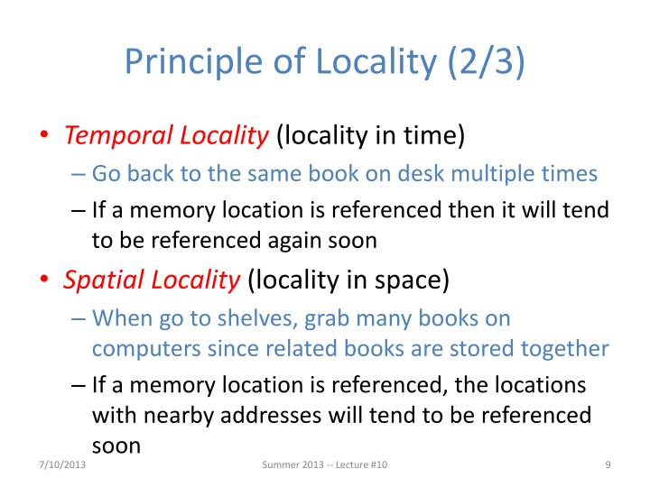 Principle of Locality (2/3)