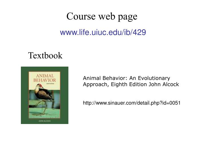 Course web page
