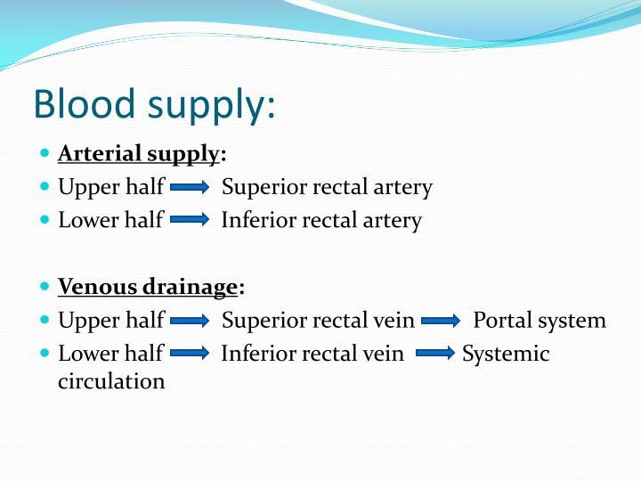 Blood supply: