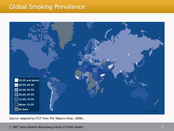 Global smoking prevalence