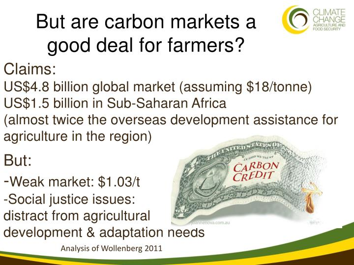But are carbon markets a good deal for farmers?