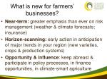 what is new for farmers businesses