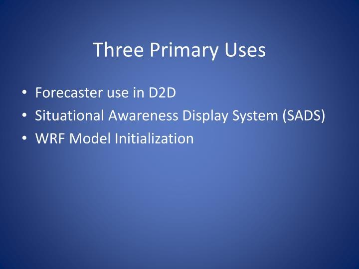 Three Primary Uses