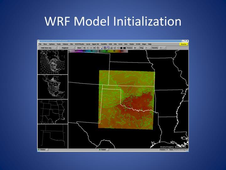 WRF Model Initialization