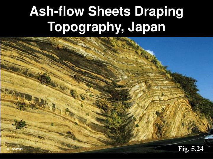 Ash-flow Sheets Draping Topography, Japan