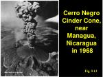 cerro negro cinder cone near managua nicaragua in 1968