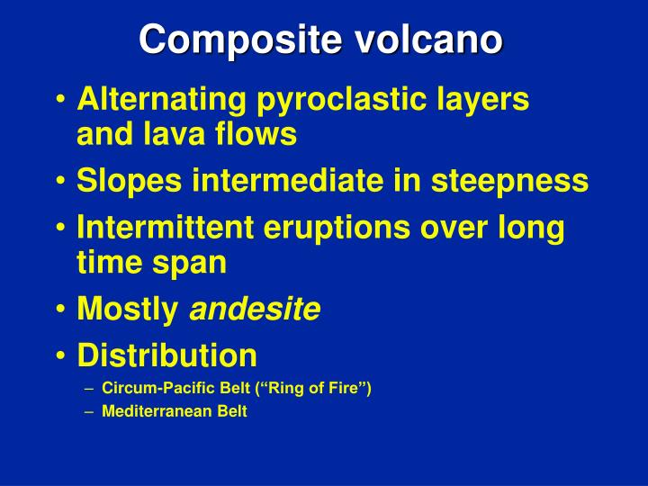 Alternating pyroclastic layers and lava flows