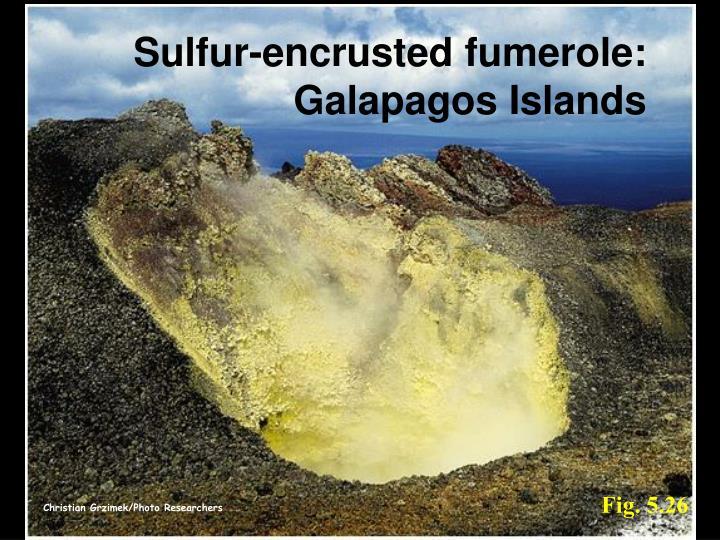 Sulfur-encrusted fumerole: