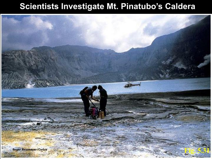 Scientists Investigate Mt. Pinatubo's Caldera