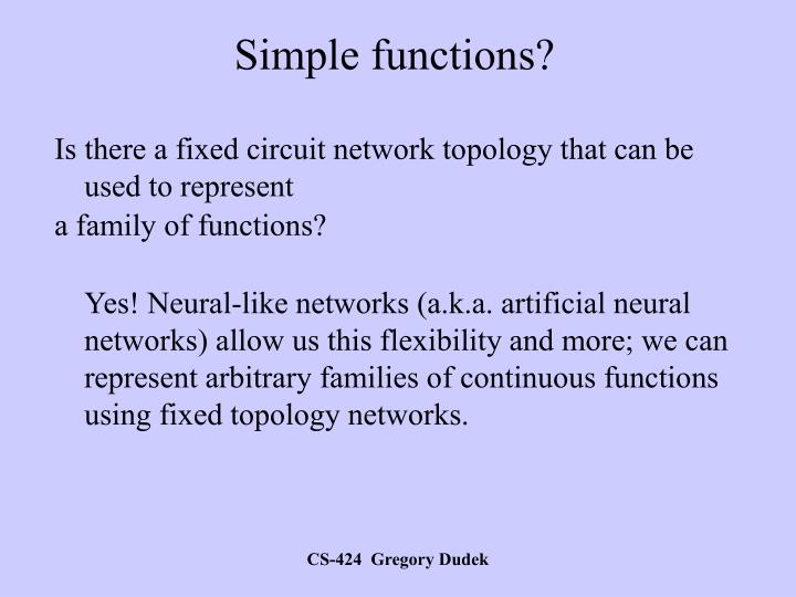 Simple functions?