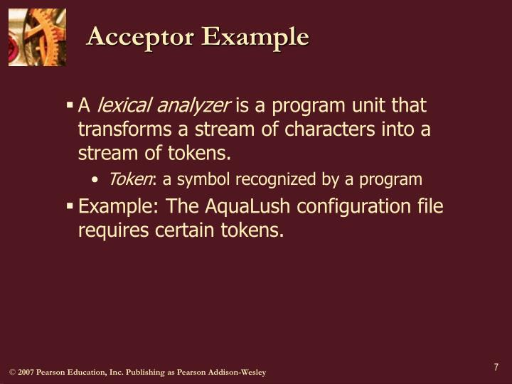 Acceptor Example