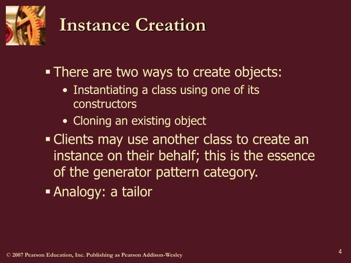 Instance Creation