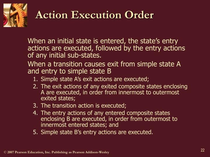 Action Execution Order