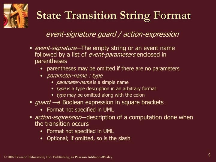State Transition String Format