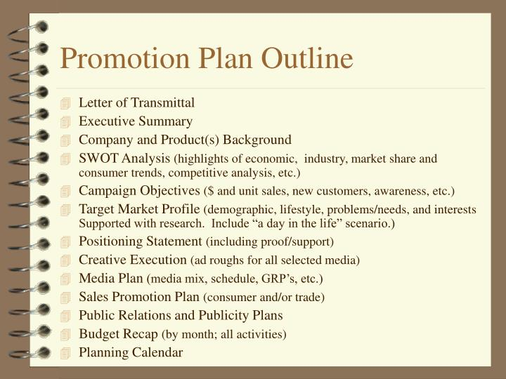 Promotion Plan Outline