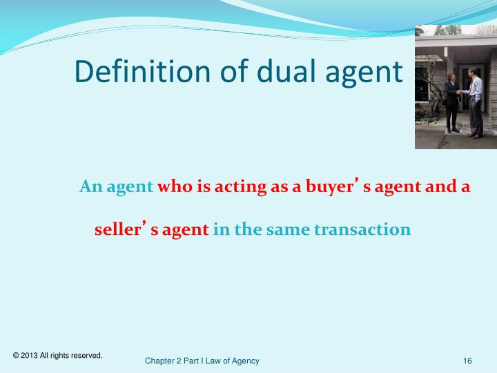 Definition of dual agent
