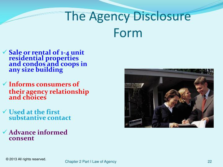 The Agency Disclosure