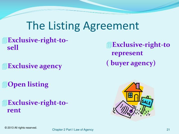 The Listing Agreement