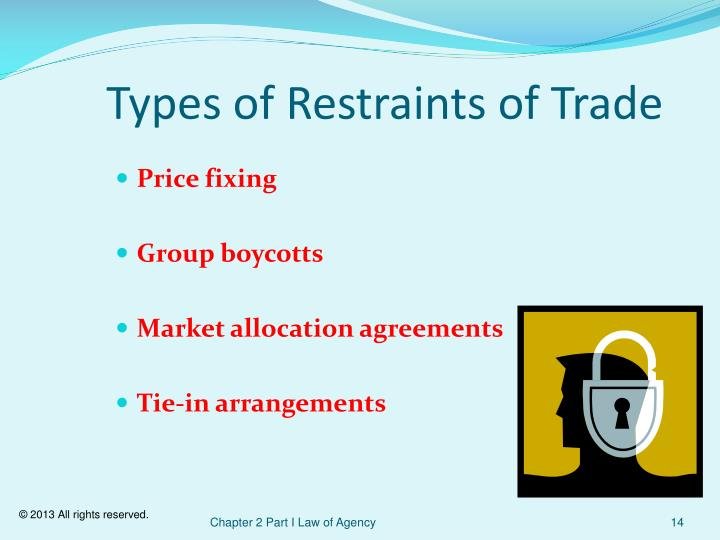 Types of Restraints of Trade
