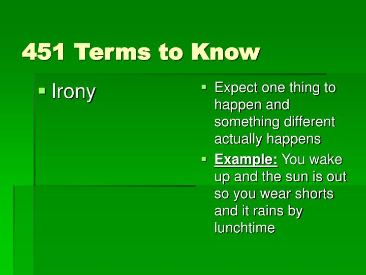 451 terms to know
