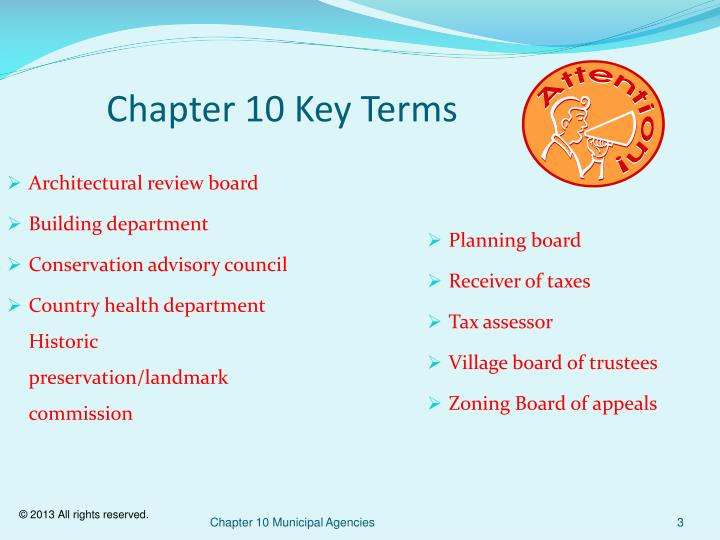 Chapter 10 Key Terms