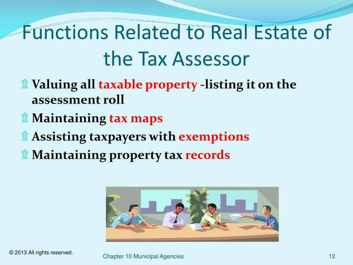 Functions Related to Real Estate of the Tax Assessor