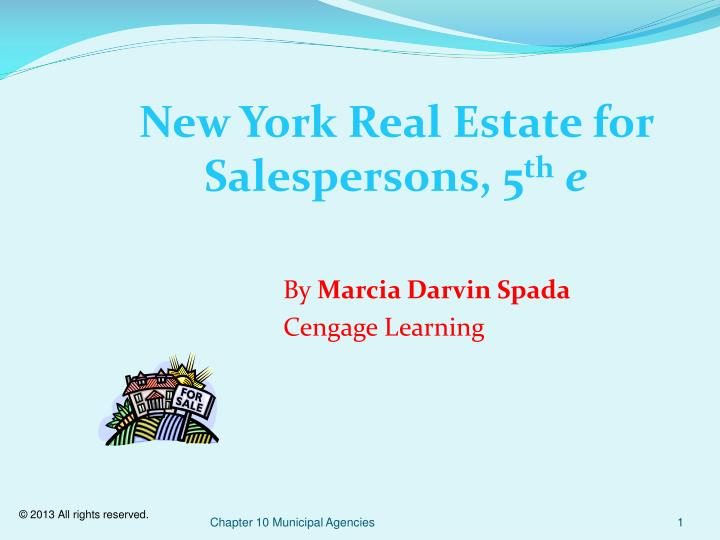 New York Real Estate for Salespersons,