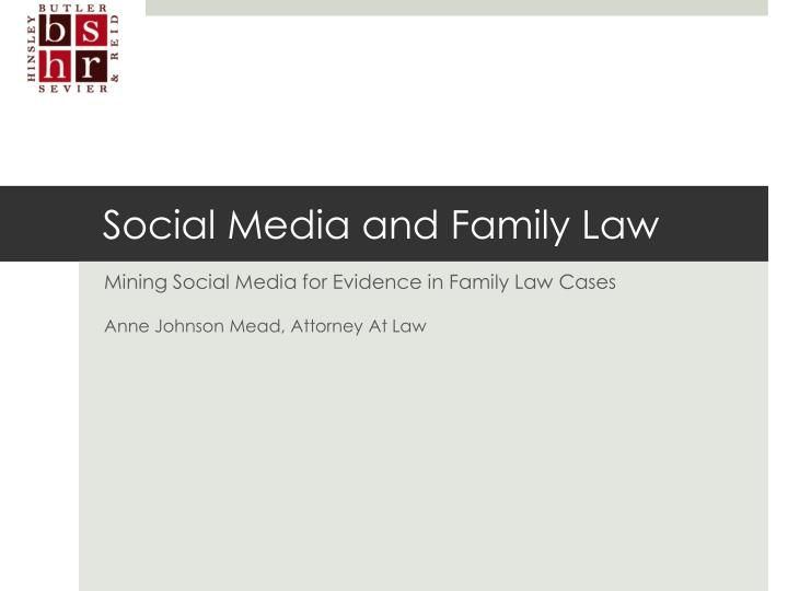 Social media and family law