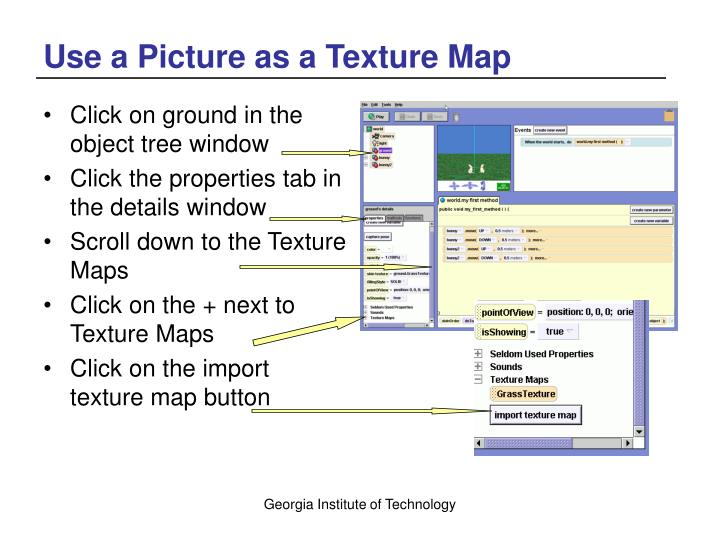 Use a Picture as a Texture Map