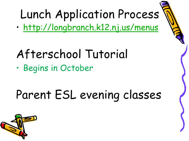 Lunch Application Process