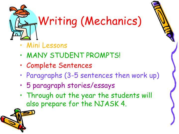 Writing (Mechanics)