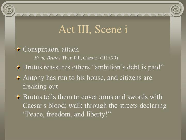 Act III, Scene i