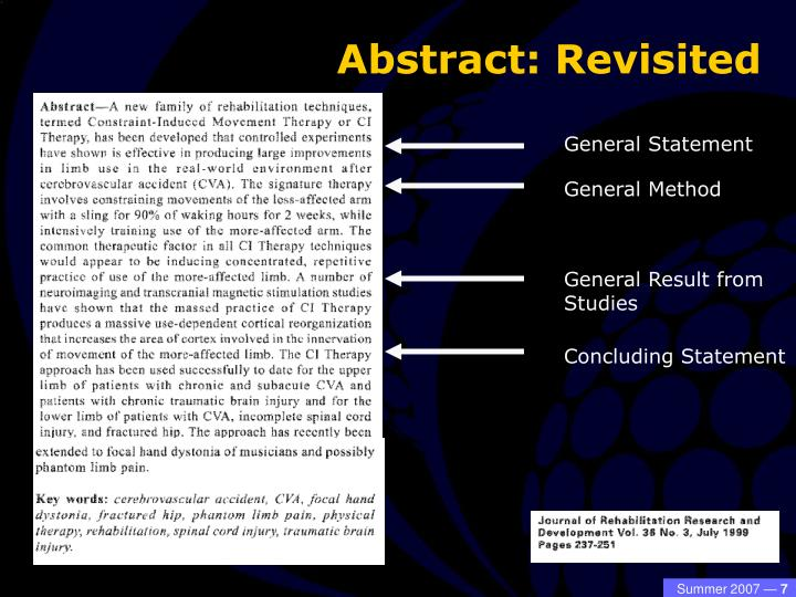 Abstract: Revisited