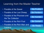 learning from the master teacher1