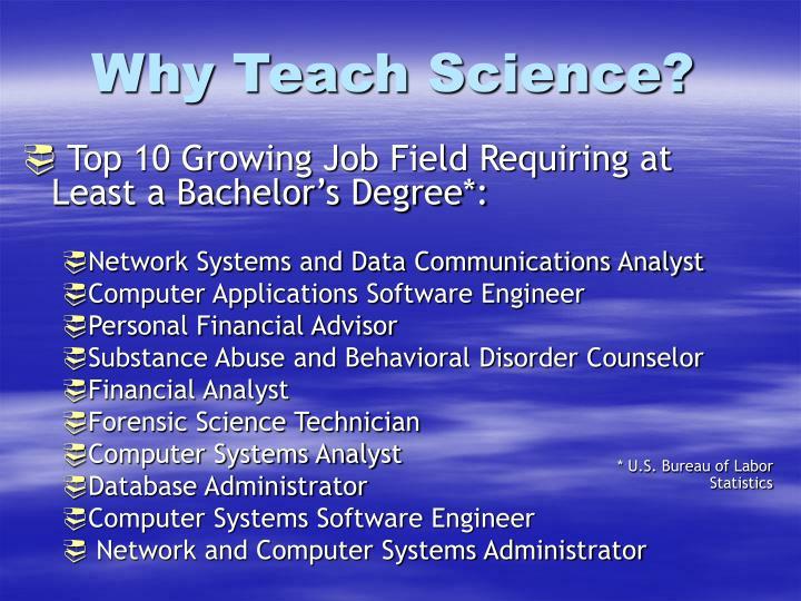 Why Teach Science?