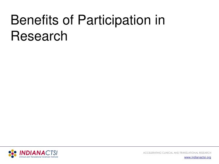 Benefits of Participation in Research