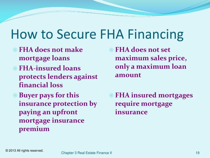 How to Secure FHA Financing