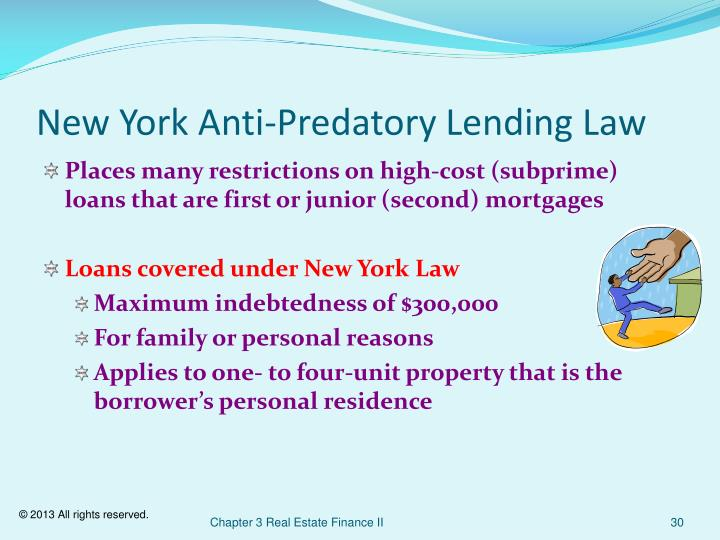 New York Anti-Predatory Lending Law