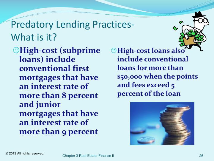 Predatory Lending Practices-