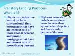 predatory lending practices what is it