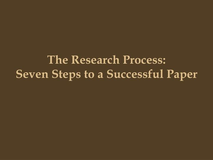 steps to writing a research paper powerpoint