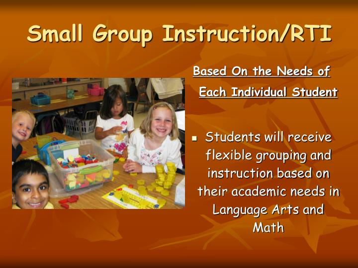 Small Group Instruction/RTI