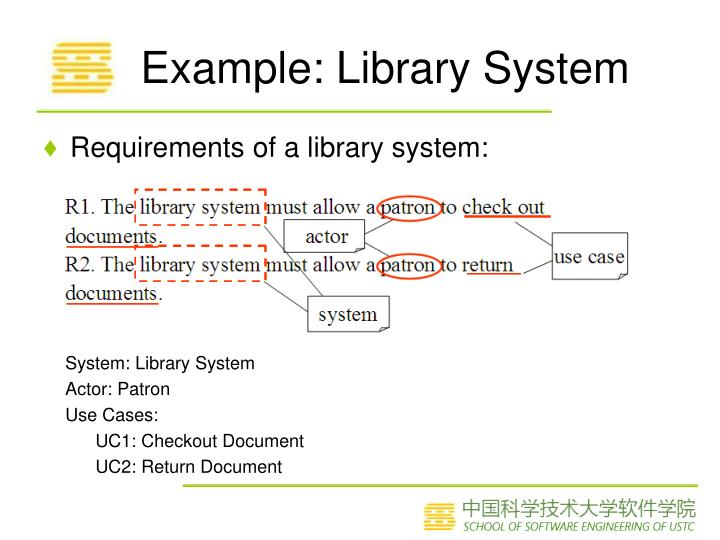 Example: Library System