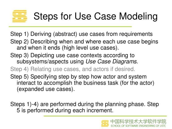 Steps for Use Case Modeling